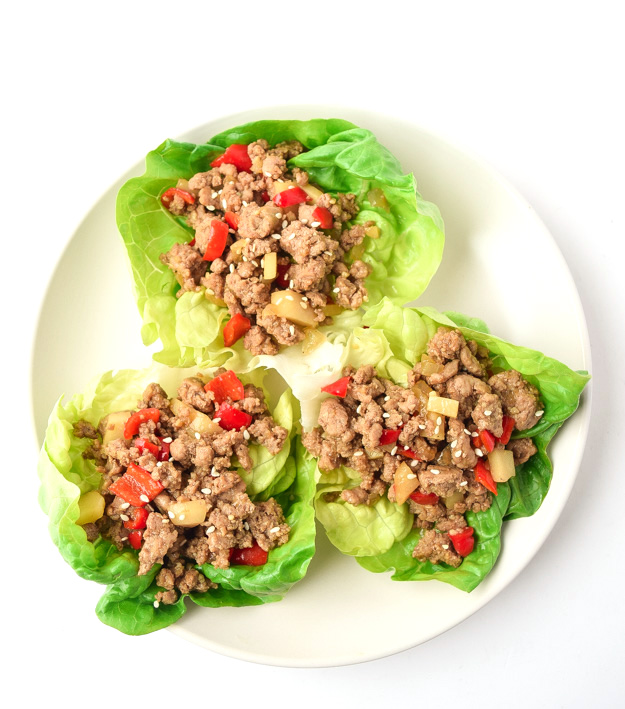Healthy Asian Turkey Lettuce Wraps