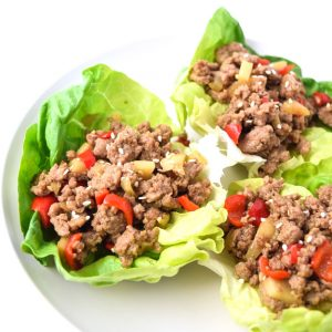 Asian Turkey Lettuce Wraps )Whole30 Paleo Keto)