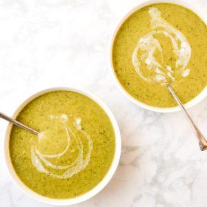 Easy Cream of Broccoli Soup Whole30 Paleo Keto