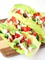 BLT Lettuce Wraps with Avocado