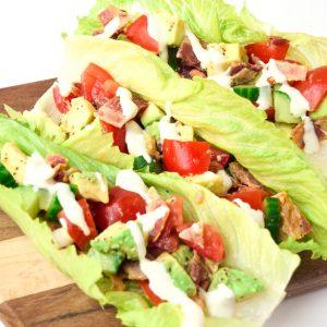 BLT Lettuce Wraps with Avocado