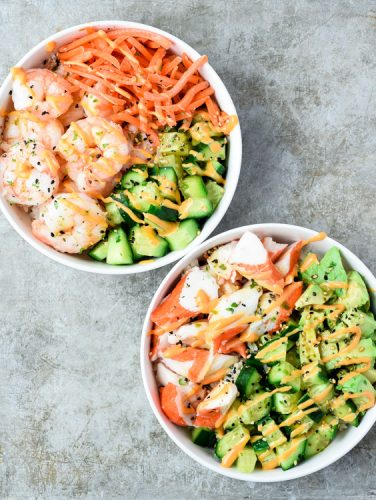 sushi bowls 3 ways
