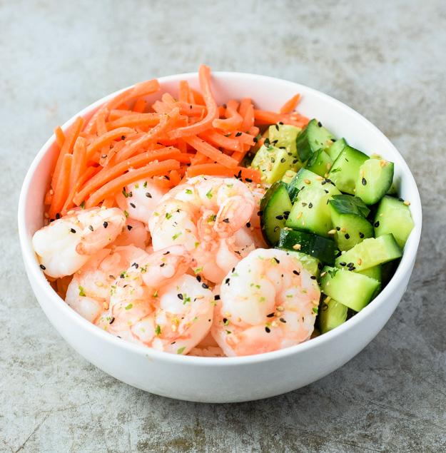 shrimp sushi bowl recipe